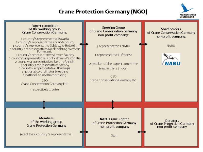 Organisation - Kraniche (en)